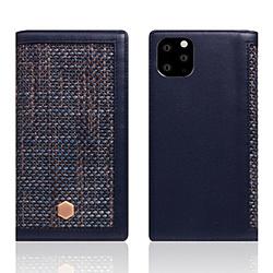 ROA iPhone11 ProMax Edition Calf Skin Leather Diary ネイビー SD17972I65R