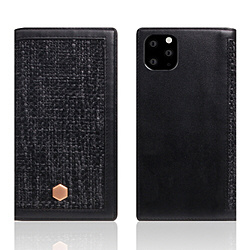 ROA iPhone11 ProMax Edition Calf Skin Leather Diary ブラック SD17973I65R