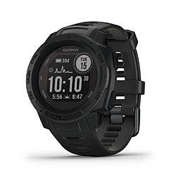 GARMIN(ガーミン) 010-02293-31 Instinct Dual Power Graphite  [smartモード:最大24日間+30日間、GPS モード:最大30時間+8時間、Expedithinモード: 最大28日間+40日間、バッテリー節約ウォッチモード:最大56日間+無制限] 0100229331