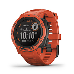 GARMIN(ガーミン) 010-02293-70 Instinct Dual Power Flame Red  [smartモード:最大24日間+30日間、GPS モード:最大30時間+8時間、Expedithinモード: 最大28日間+40日間、バッテリー節約ウォッチモード:最大56日間+無制限] 0100229370