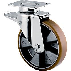 テンテキャスター テンテキャスター 重荷重用高性能旋回キャスター(ウレタン車輪・メンテナンスフリー) 3642ITP200P63CONVEX