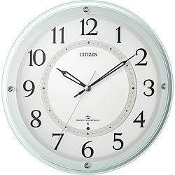 リズム時計 掛け時計 緑透明色 4MY859-005 [電波自動受信機能有] 4MY859005