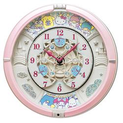 SEIKO からくり時計 「サンリオキャラクターズ」 CQ222P 薄ピンクパール CQ222P