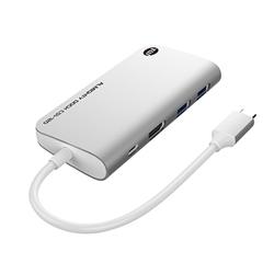 TUNEWEAR SSD 120GB内蔵[USB-C オス→メス HDMI / USB-Ax2 / USB-C] ドッキングステーション USB PD対応 シルバー TUN-OT-000058 TUNOT000058