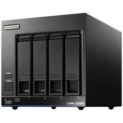 IO DATA(アイオーデータ) HDL4-X8(ブラック) ネットワークHDD 8TB[有線LAN/USB3.0・iOS/Mac/Win] 高性能CPU&NAS用HDD WD Red搭載 4ドライブ スタンダードビジネスNAS HDL4X8