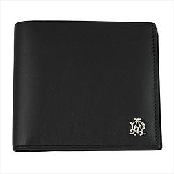 ダンヒル 【正規代理店品】 Dunhill(ダンヒル) 二つ折り財布 REEVES ブラック L2XR32A L2XR32A