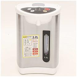 S-cubism 電気ポット HKP-320 新着 HKP320 振込不可 記念日 3.2L