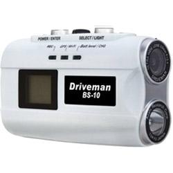アサヒリサーチ バイクカメラ Driveman BS-10W ホワイト [一体型 /スーパーHD・3M(300万画素) /GPS対応] BS10W