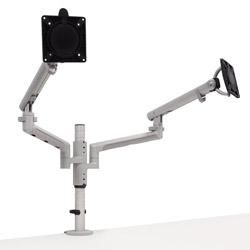 アーキサイト Flo スプリング式 デュアルモニターアーム シルバー 簡単設置 軽量 保証12年 CBS Flo Modular Dual Silver CBSFLOMODULARDUALSIL