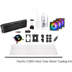 Thermaltake Pacific C360 DDC Hard Tube Water Cooling Kit CL-W243-CU12SW-A (C360ラジエーターモデル) CLW243CU12SWA