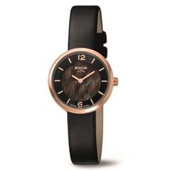ボッチアチタニューム チタン製レディース革バンド腕時計 326603 BOCCIA TITANIUM 3266-03 [正規品] 326603