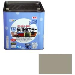アサヒペン 水性多用途カラー 10L (ライトグレー) AP9016668
