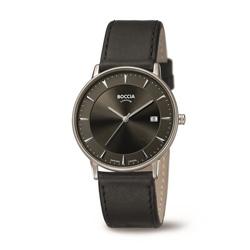 ボッチアチタニューム チタン製メンズ革バンド腕時計 360701 BOCCIA TITANIUM 3607-01 [正規品] 360701