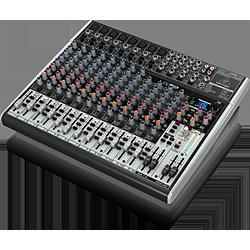 ベリンガー USBオーディオインターフェース 高性能FXプロセッサーを搭載した16入力アナログ ブラック ミキサー 高級な X2222USBXENYX 大放出セール