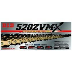 大同工業 バイク用チェーン カラー:GOLD ZJ(カシメタイプ) 520ZVM-X-110L 520ZVMX110L