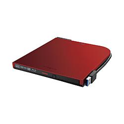 BUFFALO(バッファロー) ブルーレイドライブ 外付け 光学式 BD(Blu-ray) DVD CD ポータブル Mac/Win BDXL対応 レッド BRXL-PTV6U3-RDA [USB-A] BRXLPTV6U3RDA