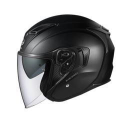 オージーケーカブト EXCEED オープンフェイスヘルメット フラットブラック Mサイズ(57-58cm) EXCEEDFBM
