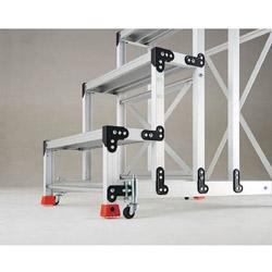 期間限定の激安セール 流行のアイテム トラスコ中山 TRUSCO 手すり2段アルミ作業用踏台スプリングキャスター TSC-3A 4個1セット TSC3A