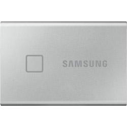 SAMSUNG(サムスン) MU-PC1T0S/IT 外付けSSD USB-C+USB-A接続 T7 Touch シルバー [ポータブル型 /1TB] MUPC1T0SIT