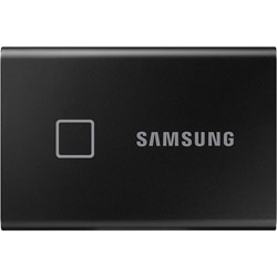 SAMSUNG(サムスン) MU-PC1T0K/IT 外付けSSD USB-C+USB-A接続 T7 Touch ブラック [ポータブル型 /1TB] MUPC1T0KIT