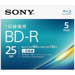 ブランド品 年末年始大決算 SONY ソニー 5BNR1VJPS6 録画用BD-R 25GB 5枚 インクジェットプリンター対応 ホワイト