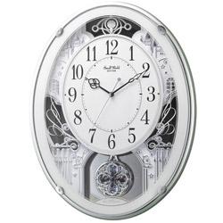 リズム時計 電波からくり時計 「スモールワールドプラウド」 4MN523RH05 4MN523RH05