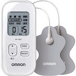 オムロン 低周波治療器 オーバーのアイテム取扱☆ HV-F021-W 割引 振込不可 ホワイト HVF021W