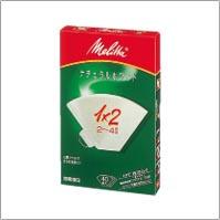 メリタ PA1×2 フィルターペーパー ナチュラルホワイト 春の新作続々 40枚入 1×2 2~4杯用 格安SALEスタート PA1X2