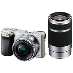 【残りわずか】 SONY(ソニー) α6000 ダブルズームレンズキット ILCE-6000Y S シルバー [ソニーEマウント(APS-C)] ミラーレスカメラ ILCE6000YS [振込], P&LUXE af86ecba