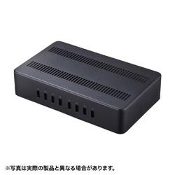 SANWA SUPPLY サンワサプライ AC - USB充電器 タブレット 毎週更新 スマホ対応 各2.4A ブランド激安セール会場 8ポート:USB-A ACASTN74BK ACA-STN74BK 19.2A
