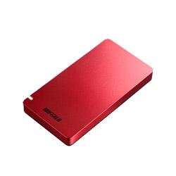 BUFFALO(バッファロー) SSD-PGM960U3-R USB3.1(Gen2) ポータブルSSD 960GB レッド レッド SSDPGM960U3R