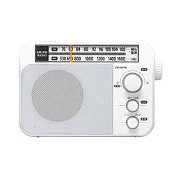 <title>aiwa アイワ ホームラジオ ホワイト AR-A10W AM FM お中元 ワイドFM対応 ARA10</title>