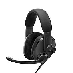 EPOS 激安 激安特価 送料無料 爆安 1000888 ゲーミングヘッドセット H3 ブラック φ3.5mmミニプラグ ヘッドバンドタイプ 振込不可 代引不可 両耳