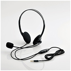 ELECOM エレコム HSHP22TBK 1.8m 4極ヘッドセットマイクロフォン オーバーのアイテム取扱☆ 発売モデル 両耳オーバーヘッド