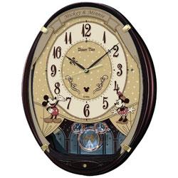 SEIKO 電波アミューズ掛け時計 「ミッキー&ミニー」 FW579B FW579B