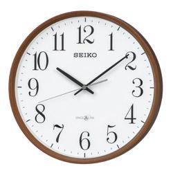 SEIKO 衛星電波掛け時計 「スペースリンク」 GP220B GP220B 薄茶木目模様 GP220B