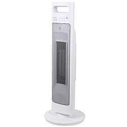 ゼピール 人感センサー付きタワーセラミックヒーター  DTC-L120L-WH DTCL120L