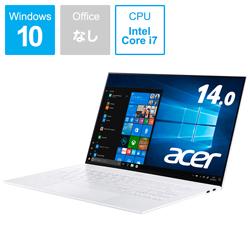 パソコン PC ノートパソコン ノートPC 本体 Acer エイサー モバイルノートPC SF714-52T-A76Y 2020A/W新作送料無料 W i7 メモリ:16GB 《週末限定タイムセール》 ムーンストーンホワイト intel Core 14.0型 SSD:512GB SF71452TA76YW 2019年9月モデル 振込不可