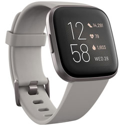 FITBIT Fitbit Versa 2 Alexa搭載 スマートウォッチ Sandstone/Iron Mist L/S サイズ グレー FB507GYSR-FRCJK FB507GYSRFRCJK