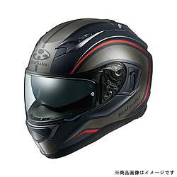 オージーケーカブト 584931 フルフェイスヘルメット KAMUI 3 KNACK L フラットブラックグレー 584931