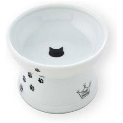 猫壱 ハッピーダイニング脚付フードボウル猫柄シリコン付き 商品 トレンド