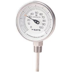 佐藤計量器製作所 バイメタル温度計BMーS型 BMS90S3 BMS90S3