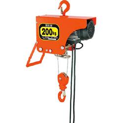 スリーエッチ 電気ホイスト 200kg 揚程6m ZS200 ZS200
