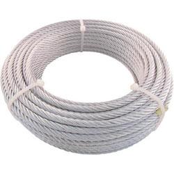 トラスコ中山 TRUSCO JIS規格品メッキ付ワイヤロープ (6X19)Φ6MMX50M JWM-6S50 JWM6S50