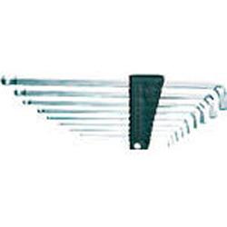 京都機械工具 ボールポイントL型ロング六角棒レンチセット首下ショートタイプ[9本組] HLDS2509 HLDS2509