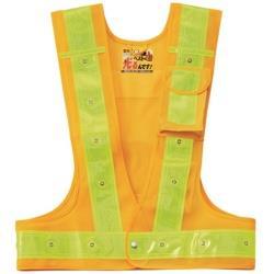 日本緑十字 緑十字 多機能LED安全ベスト 黄/赤発光/黄反射 フリーサイズ メッシュ生地 238101 238101