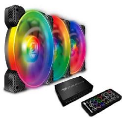 COUGAR ケースファン[120mm / 1500RPM]+LEDコントローラー VORTEX RGB SPB 120 PWM HDB Cooling Kit CF-V12SET-SPBRGB CFV12SETSPBRGB