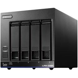 IO DATA(アイオーデータ) HDL4-X32(ブラック) ネットワークHDD 32TB[有線LAN/USB3.0・iOS/Mac/Win] 高性能CPU&NAS用HDD WD Red搭載 4ドライブ スタンダードビジネスNAS HDL4X32