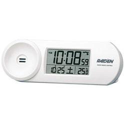 限定特価 SEIKO 電波目覚まし時計 NR532W 白 高価値