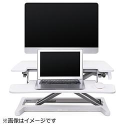 DMM 卓上昇降デスク デュアルタイプ W720 DKS-LDD720W ホワイト DKSLDD720W